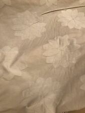 Vintage Curtain Fabric Quality Sunburst Ivory Cream Jacquard 24 Metre Roll