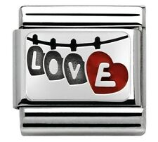 Nomination Charm Love With Hanging Hearts RRP £22