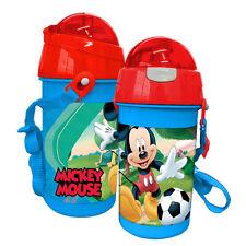 Disney Mickey Mouse Trinkflasche mit Strohhalm Sportflasche Kinder Baby #150