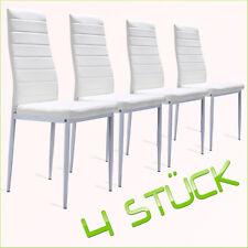 4x weiße Lederstühle, Esszimmerstuhl, Wohnzimmerstuhl, Stuhl NEU