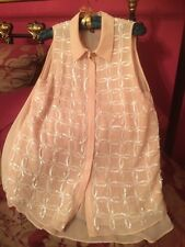 Stunning Warehouse Sequin Blouse Size 10 Excellent Condition