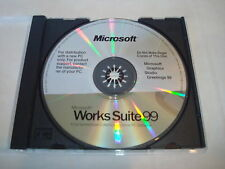 Works Suite 99 - Microsoft CD Disc - Software for PC - Graphics Studio Greetings