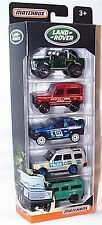 Matchbox Land Rover 5 pack Diecast Vehicles - DPT09 - NEW in pack