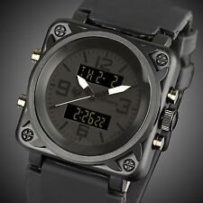 INFANTRY Mens Digital Quartz Wrist Watch Black Chrono Military Russian Design