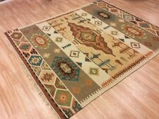 Authentic Tribal Indian Handwoven 100% Wool Kilim Rug XL Large 201x292cm 60%OFF