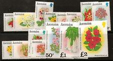 ASCENSION SG282A/96A 1981 FLOWERS MNH