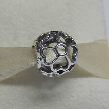 New Authentic Pandora 791489 Primrose Sterling Silver Bead Box Included
