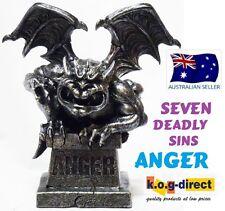 BLACK GARGOYLE STATUE FIGURINE SEVEN DEADLY SINS 21 CM - ANGER