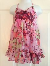 BNWT NEXT Girls Pink Floral Print Chiffon Strappy Top 5 Years 110cms