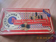 Retro Games Chess,Draughts and Backgammon 3 in 0ne games