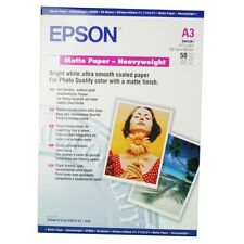 EPSON HEAVY WEIGHT 167GSM MATTE FINISH A3 INKJET PHOTO PAPER / 50 SHEETS