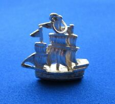 VINTAGE STERLING SILVER CHARM GALLEON PIRATE SHIP BOAT