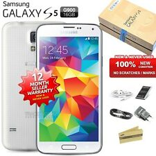 New Sealed Unlocked SAMSUNG Galaxy S5 SM-G900F White 4G LTE Android Mobile Phone