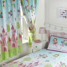 """FAIRY PRINCESS 'SLEEPING' 66"""" x 72"""" LINED CURTAINS NEW & TIE-BACKS matches duvet"""
