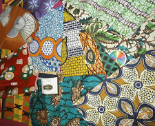 MULTI-COLOURED AFRICAN COTTON PRINT FABRIC.**CRAFT MAKING** FAT QUARTER BUNDLE