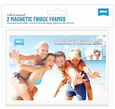 """PACK OF 2 Shot2go magnetic photo fridge frame pockets clear 4x6"""" FREE P&P"""