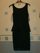 new LADIES NAVY BLUE LACE  DRESS  SIZE 10