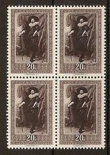 Liechtenstein 1951 Paintings 20R SG300 MNH Block Cat£76+