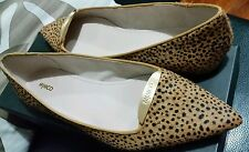 ♡♡♡ New Sexy Mimco Honey Print Ballet Flats Leather Shoes Sandals Size 38 Or 7