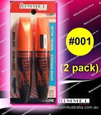 001 Black (2 pack), Rimmel ScandalEyes Curve Alert Mascara