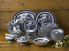 JOHNSON BROTHERS BLUE WILLOW 45PC DINNER SET $799