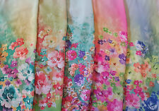 Pastel Shaded Color Good Quality Silky Sheer Chiffon Fabric