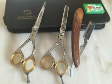"Professional Barber Hairdressing Scissor Thinning Hair Cutting 6"" With razor."