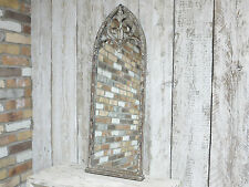 SHABBY CHIC RUSTIC RECTANGLE GOTHIC ARCHED METAL MIRROR WALL MOUNTED (4174)
