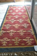 100% Wool Kilim Bedouin rug 66x200cm. Quality.Hand Made runner Tribal look