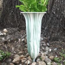 Grabvase Steckvase dunkelgrün grün Trauer Vase Kunststoff Friedhof Vase farbig