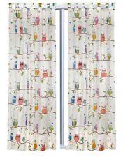 Vorhang Set Eule Eulen mit Schlaufen 2 Schals 245 cm x 140 cm Kinderzimmer OWL