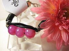 Leder Armband Perlen Schmuck Achat  Armkette Stein Schmuck