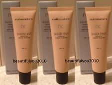 NUTRIMETICS NC SHEER TINT MAKE-UP 30ML X 3 SPF15 BRAND NEW RRP $72