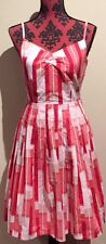 Target Rockabilly Pin Up Style Dress In A 10 Fully Lined Belt Not Included