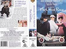 THE GREAT RACE NATALIE WOOD  VHS VIDEO PAL RARE BRAND NEW
