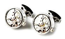 Steampunk Cufflinks - Science Fiction - Groomsmen Gift - Jewelry - Gift Box