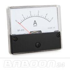 Messinstrument 0 - 5 A DC zum Einbau, Einbaumessinstrument Analog Amperemeter