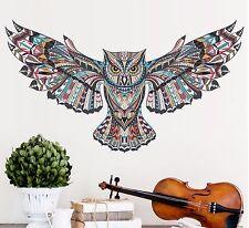 Large Owl Wall Decal Beautiful Cute Bird Teen Sticker Mural Decor Removable Art