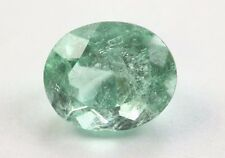 Bright Green Natural 2.36 Ct Colombian Oval Cut Emerald Certified Gemstone