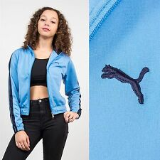 PUMA BLUE TRACKSUIT JACKET TOP RETRO CASUAL SPORT STYLE RETRO WOMENS 6 8