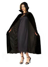 LADIES BLACK CAPE WITH LARGE COLLAR FANCY DRESS VAMPIRE CLOAK HALLOWEEN NEW