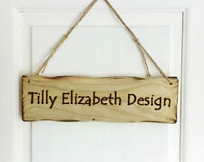 Driftwood Style Personalised 32cm x 10cm Wooden Sign Plaque Any Text Possible!