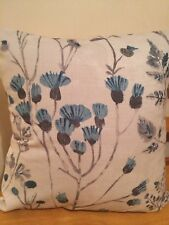 "JOHN LEWIS Handmade16"" Cushion Cover Blue Flowers Shabby Chic"