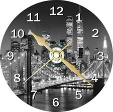 New York Cityscape Novelty Cd Clock Can be personalised