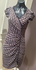 Cue Dress Size 10 Body Con Latte Black Casual Stunning REduced,