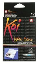 Sakura 12 Piece Koi Assorted Watercolours Field Sketch Set With Water Brush
