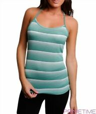 Ladies Green Striped Racer Back Singlet ~ Size S ~ NEW ~ perfect for layering