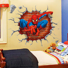 Spiderman Boys Kids Bedroom Wall Sticker Home Decor Mural Children Decal 50*50cm