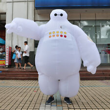 Big Hero 6 Baymax  Adult Mascot Costume Inflatable Fancy Dress Cosplay Outfit 2m