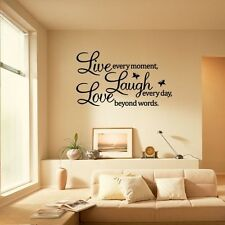 Removable PVC LIVE LAUGH LOVE Letters Room DIY Art Mural Wall Sticker Decal UK